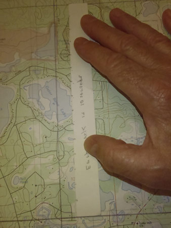 measuring latitude on a topo map